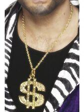 GOLD DOLLAR SIGN PIMP NECKLACE,,,,, FANCY DRESS BRAND NEW