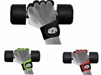 Jayefo hybrid Fitness Glove Weight Lifting Gym Workout Training Wrist Wrap Strap
