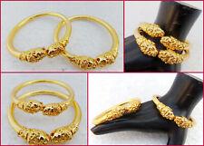 Bollywood Style Fashion Jewelry Bracelet Ethnic Indian Gold Plated Bangles Set