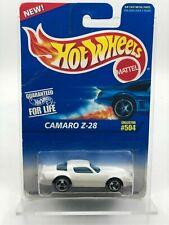 1996 Vintage Hot Wheels Collector #504 CAMARO Z-28 White