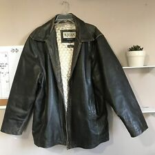 Wilsons M Julian Distressed Leather Coat Jacket Mens Size XL Brown