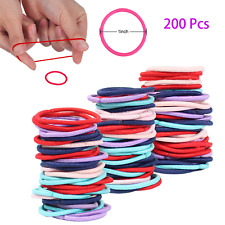 200Pcs  Girls Hair Band Ties Rope Ring Elastic Hairband Ponytail Holder New