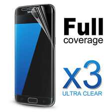 3x Flex 3D FULL Coverage Curve Clear Screen Protector For Samsung Galaxy S7 Edge