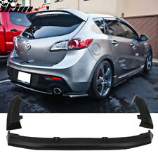 10-13 Mazda 3 Hatchback 5Dr 3 Piece Rear Lip Apron Diffuser For Dual Exhaust