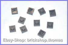 Lego 10 x Platte 1x1 - 3024 grau Platten - Plates Dark Bluish Gray - NEU / NEW