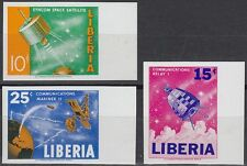 Liberia 1964 ** Mi.619/21 B Weltraum Space Espace Syncom Relay Mariner