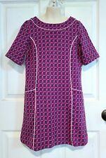 Lilly Pulitzer Heel Yeah Jacquard Girl's Large (8-10) High Heel Dress Navy Pink