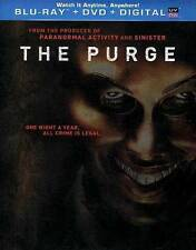 The Purge NEW Bluray & DVD disc/case/cover only-no digital- 2013 crime is legal