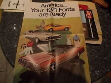 ford ancien poster publicitaire annee 1971