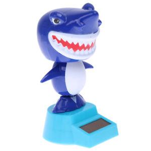 Cute Solar Powered Flip Flap Bobble Toy Car Home Ornament Dancing Toy Shark
