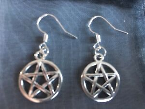 Pentagram Earrings Witchcraft Wicca Pagan Gift