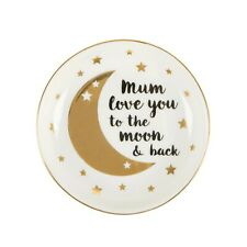 Christmas Gift for Mum   Gold Love you to the Moon and Back Ring Trinket Dish