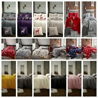 Teddy Bear Fleece Thermal Warm Soft Bedsheet, Duvet Cover Set or Throws,Cushion