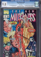 New Mutants #98 CGC 9.8 white pages 1st Appearance Deadpool