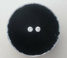 White Diamond Round Loose Faceted Natural Pair 2.5mm each
