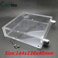 100% new Acrylic transparent optical drive PMMA Water tanks 400ML 144x138x40mm