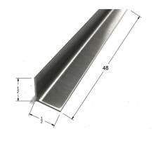 1/2x1/2x48 Stainless Steel Inside Corner Guards, 90 Degree Angles,20ga, (5 Pack)