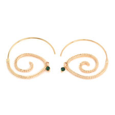 Fashion Alloy Round Circles Spiral Tribal Hoop Ear Stud Earrings Women's Jewelry a Gold
