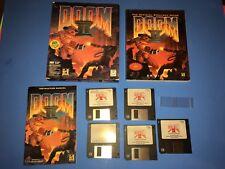 """DOOM II 2 Hell on Earth IBM Pc 3.5"""" Floppy Disk Original CIB Vintage BIG BOX"""