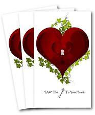Valentine's Day Love Card (3 cards variety pack with envelopes)