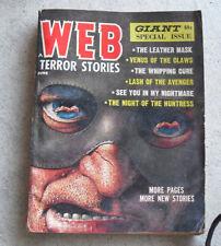 Rare Vintage June 1965 Pulp Magazine Web Terror Stories Torture