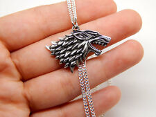 game of thrones house STARK SILVER necklace winter is coming gift pendant jonh