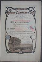 Companhia de Creacao de Comercio de Gados 1920 - 80 Escudos