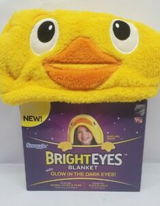 As Seen on TV Snuggie Bright Eyes Darling Duck Blanket NIP Glow in the Dark Eyes