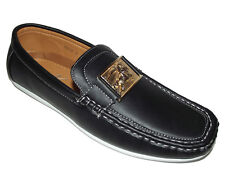 BQ032 NEW Black Classic Casual LOAFER DRIVING SLIP ON MOCCASIN MENS SHOES Sz 7.5