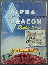 Original 1954 Alpha Aracon Radio & TV Supplies Catalog w/Prices Toronto CANADA