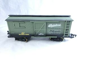 Pioneer Early American Railroad New Bright 1996 Overland Freight Car Rio Grande