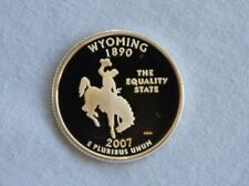 2007-S Wyoming Silver Proof State Quarter Ultra Deep Cameo