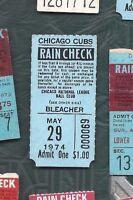 1974 5/29 baseball ticket San Francisco Giants Chicago Cubs bleachers