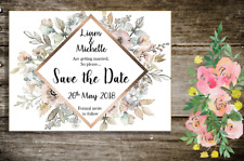 Personalised Magnetic Wedding Save the Date Cards with envelopes x 25