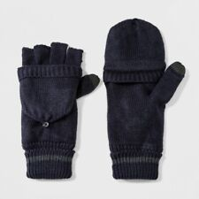 Men's Fold Over Mitten With Fleece Lined Mitten Clips - Goodfellow & Co Navy