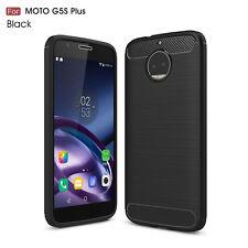 WOW Carbon Fiber Texture Slim TPU back Case For Motorola Moto XT1806 Black