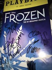 Frozen Caissie Levy Murin Signed Final Night Broadway Musical Playbill Disney