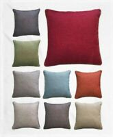 Luxury JULIAN Woven Piped Quality Cushion Covers 45x45cm Filled or Covers Only