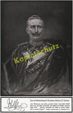 Wilhelm II. 59. Birthday Large Headquarters GHQ Spa Belgium Western Front 1917