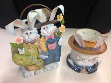 Home Interior Spring Rabbit Candle Holder Lantern. 1 New 1 Used