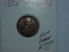 wheat penny 1931D HIGH GRADE DETAILS 1931-D LOT #3 SEMI-KEY LINCOLN CENT