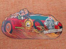 Vtg Valentine Kewpie Like Couple Driving A Convertable Car Cupid Mecanical Card