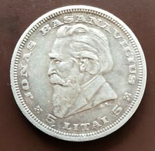 LIitauen 5 Litai 1936 Silber