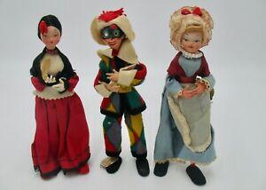 Three Vintage Italian Venetian Dolls