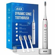Sonic Electric Toothbrush with 3 Replacement Heads Rechargeable Electronic Tooth