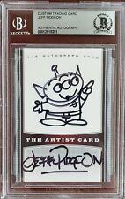 Jeff Pidgeon Pixar Animator Lgm Little Green Men Original Sketch Autograph Bas