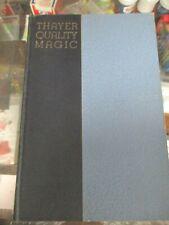 Vintage Thayer Magic Catalog #9 Hardbound