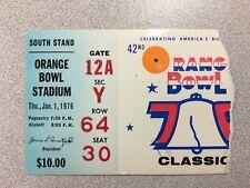Michigan vs. Oklahoma 1976 Orange Bowl Football Ticket Stub ~ Rare!