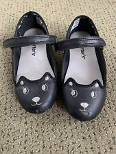 Carter's Kitty Mary Jane Flats Black Size 10 Girls