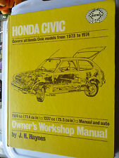 MANUALE OFFICINA HONDA CIVIC 1973 - 1974 CASTROL Haynes Hondamatic TRASMISSIONE